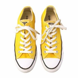 Converse Lemon Yellow Low Top Sneakers